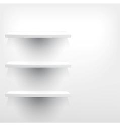 Isolated empty shelf for exhibit vector