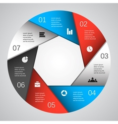 Modern template for your business project vector
