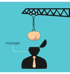 Transplant ass manager head eps vector