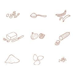 Ingredients vector
