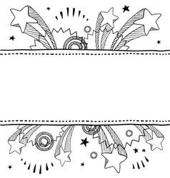 Doodle pop label horizontal vector