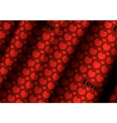 Heart cloth background of valentins day vector