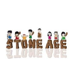 Stone age cartoon vector