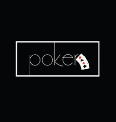 Poker on black with card vector