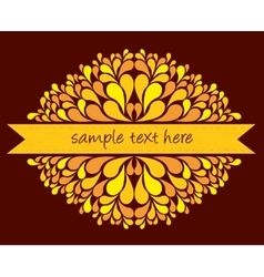 Yellow ribbon with decoration vector