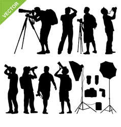 Photographer silhouettes vector