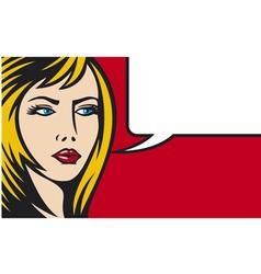 Pop art woman vector