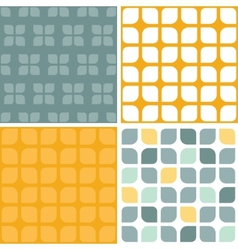 Abstract gray yellow rounded squares set of vector