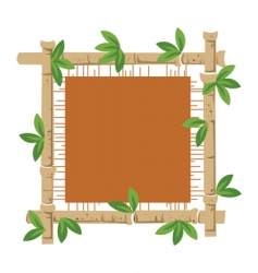 Bamboo and material vector