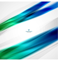 Colorful moving abstract lines modern template vector