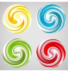 Set of milk yogurt cream curl or lollipop vector