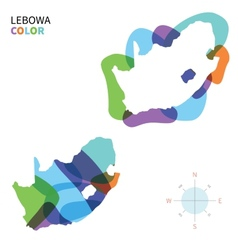Abstract color map of lebowa vector