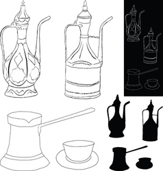 Coffee accessories vector