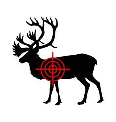 Caribou crosshair vector