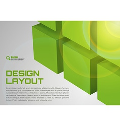 Cube design green vector