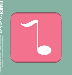 Musical note character singing and the music vector
