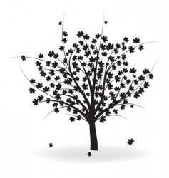 Autumn tree vector