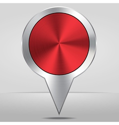Silver map location pointer icon vector