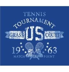 Tennis tournament vector