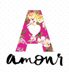 Style college flower pattern amour watercolor vector