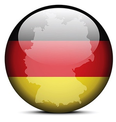 Map on flag button of federal republic of germany vector