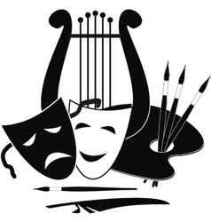 Symbols of arts vector