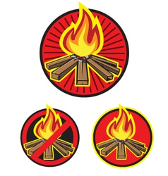 Wood fire vector