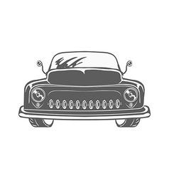 Retro car isolated vector