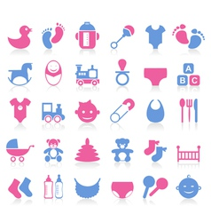 Family baby icon vector