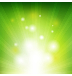 Green background with beams vector