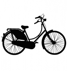 Dutch roadster bicycle vector