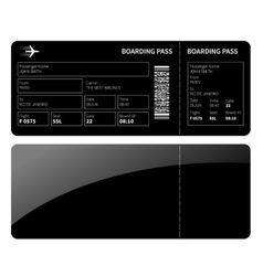 Black boarding card vector