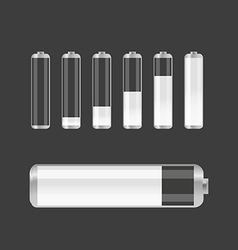 Different transparent accumulator collection vector