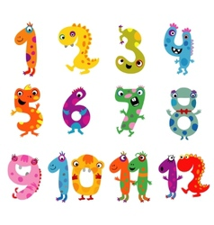 Cartoon monsters numbers vector