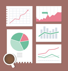 Business chart set vector
