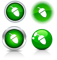 Acorn buttons vector