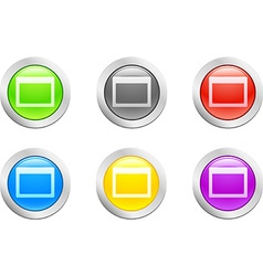 Open button vector