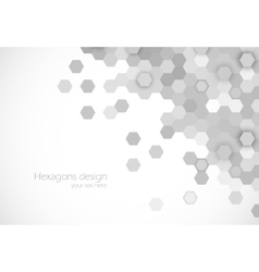 Hexagons background vector