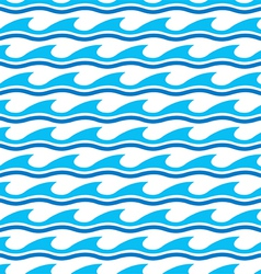 Water wave seamless patterns vector