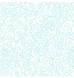Graceful seamless pattern with hand drawn swirls vector