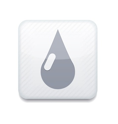 White drop icon eps10 easy to edit vector
