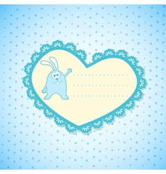 Baby frame on blue background vector