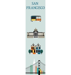 Symbols of san francisco vector