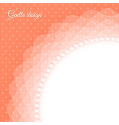 Frame with beads vector