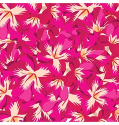 Floral pattern with hibiscus hand-drawing vector
