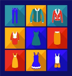 Womens fashion shopping flat icon with shadow vector
