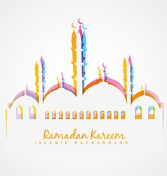 Colorful islamic festival background vector