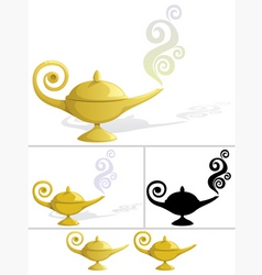 Magic lamp vector