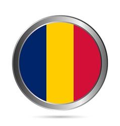 Chad flag button vector