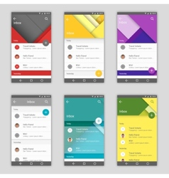 Set of user interfaces vector